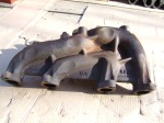 VW TiiCo dual output 6 bolt cast exhaust manifold bottom